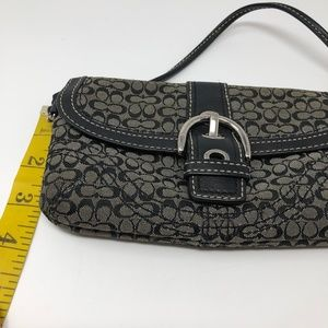 Coach Bags - COACH Clutch Wristlet Monogram Black Grey